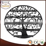 Tree design Black Round Metal Wall Mounted 5 Tier Nail Polish Rack