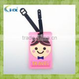 factory direct sell soft pvc luggage tag,personalized pvc tag luggage