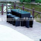 outdoor rattan bar table set