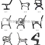 cast iron park bench legs with various design and shapes