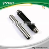 Long round full stainless steel custom laser logo cigar tube