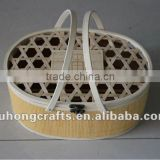 Hand-made bamboo crafts basket weaving