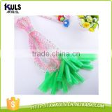 Children skip rope transparent colored plastic rope skipping