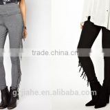 New Hot Selling rends Fashion Women's Slim pants Punk Fringed High Waist Trousers Casual Pant Feet