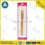 Golden color electroplated custom knitting needle double side aluminium crochet hook