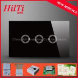 US Standard touch Screen Glass Panel 3Gang Remote Control Smart WIFI Switch with blue LED backlight, AC110-240V