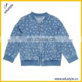 Wholesale Plain Custom Kids Bomber Denim Jacket For Girls
