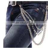 Punk Pants Chains Fashion Rock Waist Accessories Unisex Hip-hop Skull Pendant Pants Trousers Chain