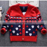 2016 New knitting pattern baby sweater cardigan design