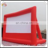 Customized inflatable projection screen, portable rare inflatable movie cinma screen for entertainment promotion event