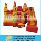 Funny and beautiful inflatable castle slide combo outdoor