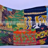 INDIAN KANTHA WORK VINTAGE CUSHION COVER THROW PILLOW CASE ETHNIC DECORATIVE INDIAN TEXTILE