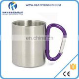 Carabiner Handle Stainless Steel Mug For Sublimation