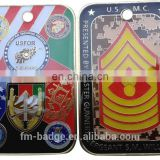 2016 Best Selling Army Challenge Coin/square Military Challenge Coin/collection US coin with epoxy/resin