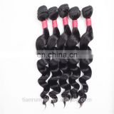 9A Popular Loose Wave Indian Bundles More Soft Hair Full Ends Weaves