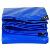 Double sides laminated fabrics two-sides waterproof covers economical light-duty easy-folded blue tarpaulin any size available