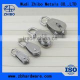 M25 25mm Swivel Stainless Steel 304 Wire Rope Single-sheaved Pulley Blockrope pulley block 25mm-100mm