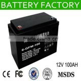 CE MSDS 12V 100AH ups battery manufacturer solar panels backup solar back up battery