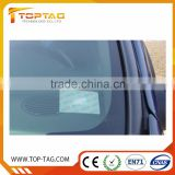 UHF Writable RFID windshield tag for highway in Alien H3 / Impinj M4
