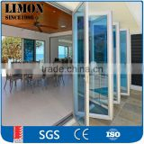Aluminum Folding Door partition for banquet hall Passed AS2047 Standard