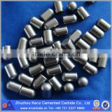 Spherical button, ballistic button carbide button insert for threaded button bits