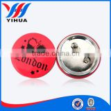 Tin button badge with safety pin