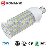 High power led bulb 75w E27 E40 led corn bulb light street lamp with CE ROHS UL DLC                                                                         Quality Choice