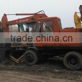 Hitachi WH03 mini wheel excavator used hitachi WH03 wheel excavator second hand hitachi WH03 wheel excavator for sale