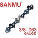 3/8'' 063'' sawchain for chainsaw ,steel stainless saw chain made in China