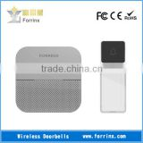 Forrinx Gray Wireless Doorbell Waterproof IP55 with Name Plate Transmitter AC Plug In Door Chime 300m 52 Sound