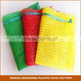 agricultural onion plastic bags yellow color knitted mesh Raschel Bag