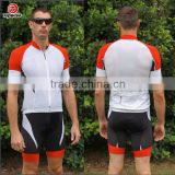 Made in China factory direct price Men's team cycling jersey set Bib short Italy MITI fabric