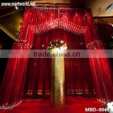 Red wedding stages decorations crystal background wedding decorations(MBD-004)