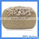 Hogift Top Selling Flower Purses With Rhinestones Crystal Evening Clutch Bags