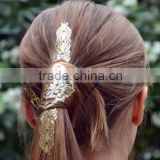 2015 Newest Design Golden Hair Tattoo Sticker Waterproof Metallic Head Tattoos Art Print Wholesale