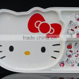 2016 New Product Melamine Kids Divided Dinner Plates/ 3 compartment kids dinner plate and tray /kids melamine serving tray