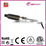 Classic 430F/220C Soft Grip Tourmaline Ceramic Tapered Curling Brush Straightener with CE ROHS CTUVUS certification