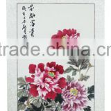 Beautiful China peony scenery wall art handmade painting monochrome abbreviated ink work