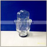 hand shape glass color candy jars