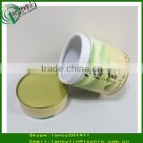 paper box with metal lid and bottom for tea bag paper packaging tube