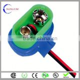 hard top hot selling 9v battery holder with switch