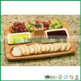 Creative bamboo wood snack serving tray party platter                                                                                                         Supplier's Choice