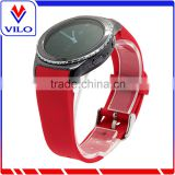 Red Smart Watch Bracelet Silicon watch Band /Leather Strap Wristband For SAMSUNG GEAR S R750