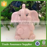 Cute Funny Customize Resin Baby Elephant Piggy Bank Home Decoration