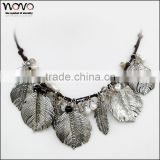 big leaf fashion new design alloy beads necklace