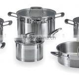 12pcs set of oms stainless steel parts germany cookware for silicon handle