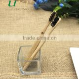 hot sell delicate wooden bamboo tooth brush holder with cup