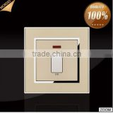 New hot BS standard Hotel design 20A D/P electric light wall switch with neon