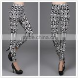 galaxy printed full ankle length cotton leggings for ladies