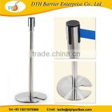 SS U shaped retractable barrier system stackable retractable belt stanchions                                                                         Quality Choice